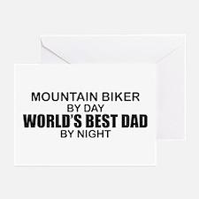 World's Greatest Dad - Mountain Biker Greeting Car