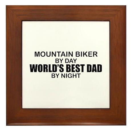 World's Greatest Dad - Mountain Biker Framed Tile