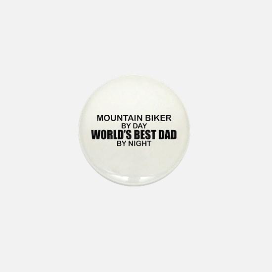 World's Greatest Dad - Mountain Biker Mini Button