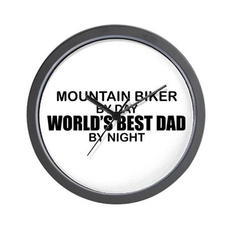 World's Greatest Dad - Mountain Biker Wall Clock