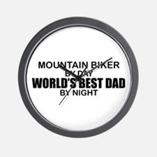 World's Greatest Dad - Mountain Biker Wall Clock