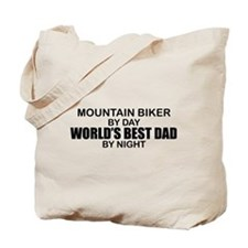 World's Greatest Dad - Mountain Biker Tote Bag