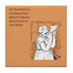 Thankful Holiday Tile Coaster