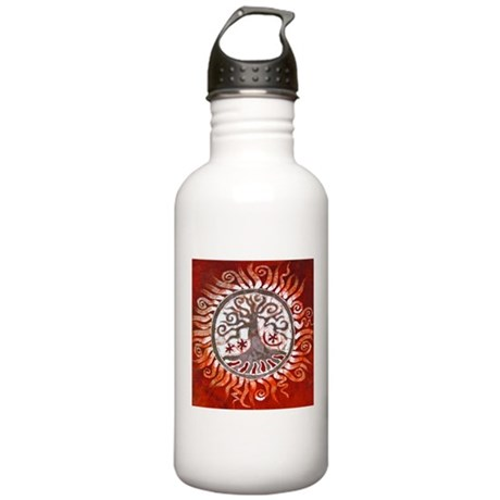 Red Tree of Life Stainless Water Bottle 1.0L