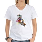 OOTS Attacks! Women's V-Neck T-Shirt