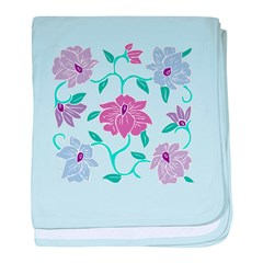 Floral Drawing baby blanket