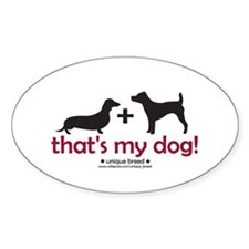 Doxie/Terrier Oval Decal