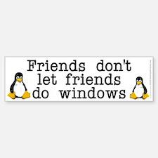 Friends don't let friends... Car Car Sticker