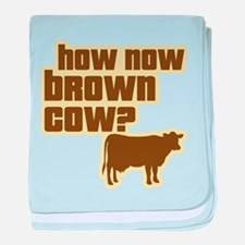 How Now Cow baby blanket
