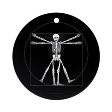 Vitruvian Man Skeleton Ornament (Round)