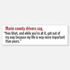 Marin County California Bumper Bumper Bumper Sticker