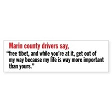 Marin County California Bumper Bumper Sticker