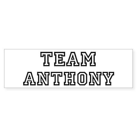 Team Anthony Bumper Sticker