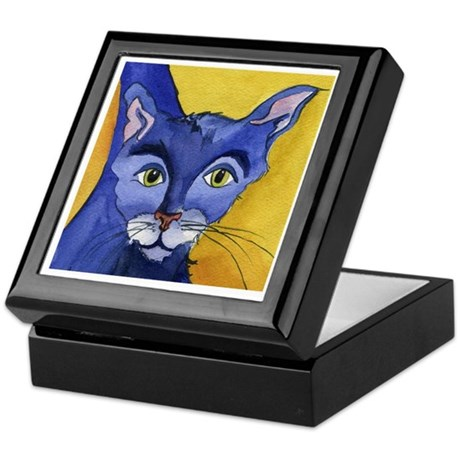 CAT 5 Ringing in the Blues Keepsake Box