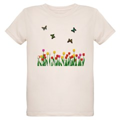 Tulip Flowers and Butterflies T-Shirt