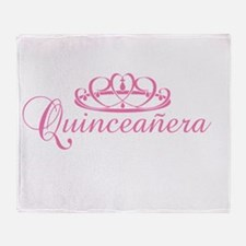 Quince Años Throw Blanket