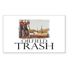 Oilfield Trash Rectangle Decal