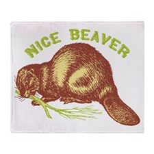Nice Beaver Throw Blanket