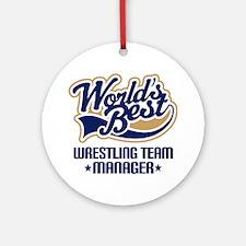 Wrestling Team Manager Ornament (Round)