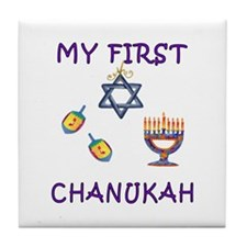 My First Hanukkah Tile Coaster