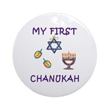 My First Hanukkah Ornament (Round)