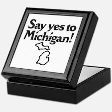 Say Yes to Michigan Keepsake Box