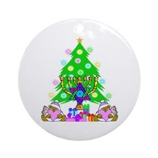 Christmas and Hanukkah Ornament (Round)