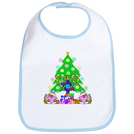 Christmas and Hanukkah Bib