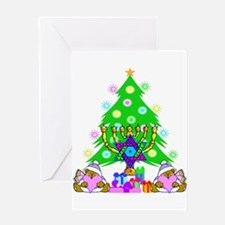 Christmas and Hanukkah Greeting Card
