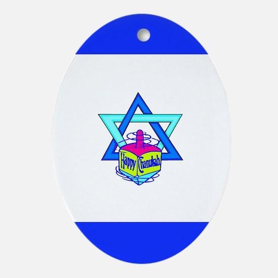 Hanukkah Oh Chanukah Ornament (Oval)
