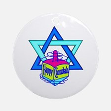 Hanukkah Oh Chanukah Ornament (Round)