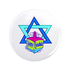 "Hanukkah Oh Chanukah 3.5"" Button"
