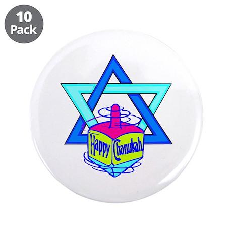 "Hanukkah Oh Chanukah 3.5"" Button (10 pack)"