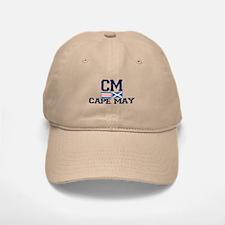 Baseball Baseball Cape May NJ - Nautical Design Baseball Baseball Cap