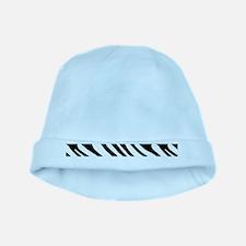 Zebra Stripe Motif baby hat