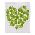 Ginkgo Heart Throw Blanket