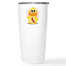 Red & White Ribbon Duck Travel Mug