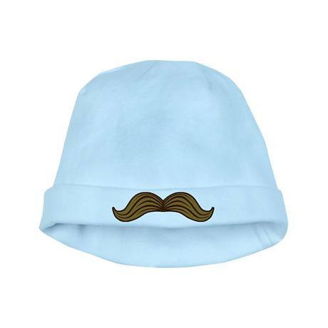 Retro Moustache baby hat