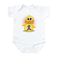 Purple & Green Ribbon Duck Infant Bodysuit