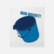 Mah Bucket Throw Blanket