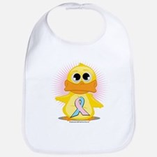 Lt Blue & Lt Pink Ribbon Duck Bib