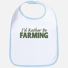 Id Rather Be Farming SOLID Bib