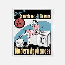 Retro Modern Appliances Throw Blanket