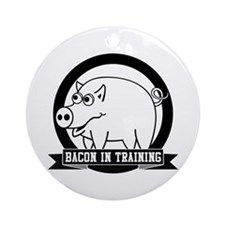 Bacon In Training Ornament (Round)