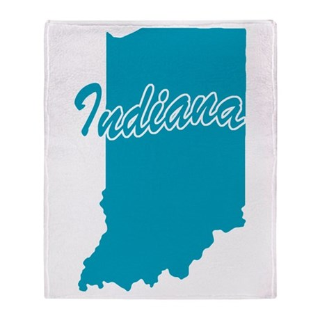 State Indiana Throw Blanket