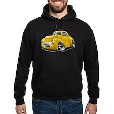 1941 Willys Yellow Car Hoodie