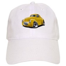 1941 Willys Yellow Car Baseball Cap