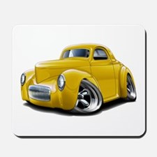 1941 Willys Yellow Car Mousepad