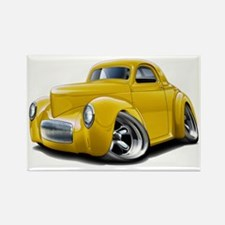 1941 Willys Yellow Car Rectangle Magnet
