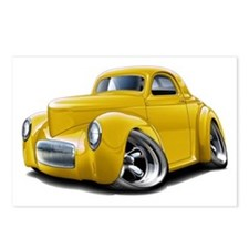 1941 Willys Yellow Car Postcards (Package of 8)